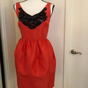 Kate spade red embellished dress